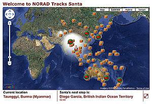 NORAD Tracks Santa Tracking Map