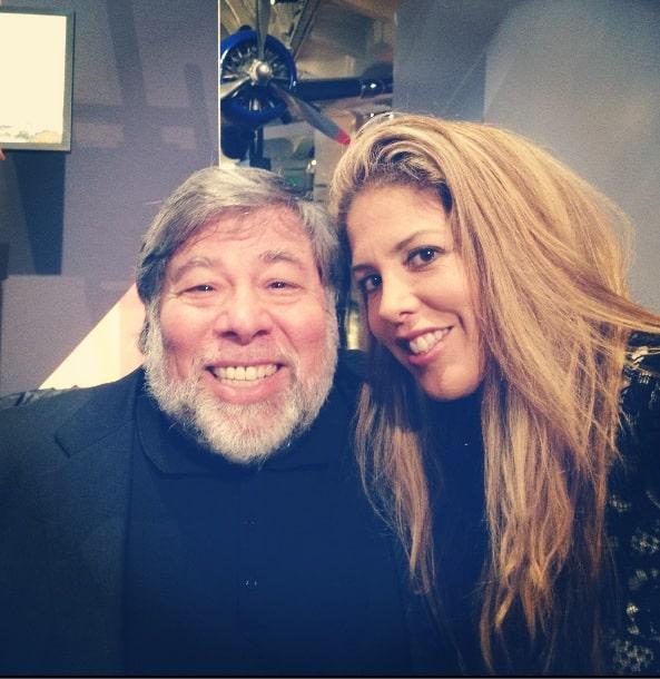 Lizza Monet Morales and Steve Wozniak