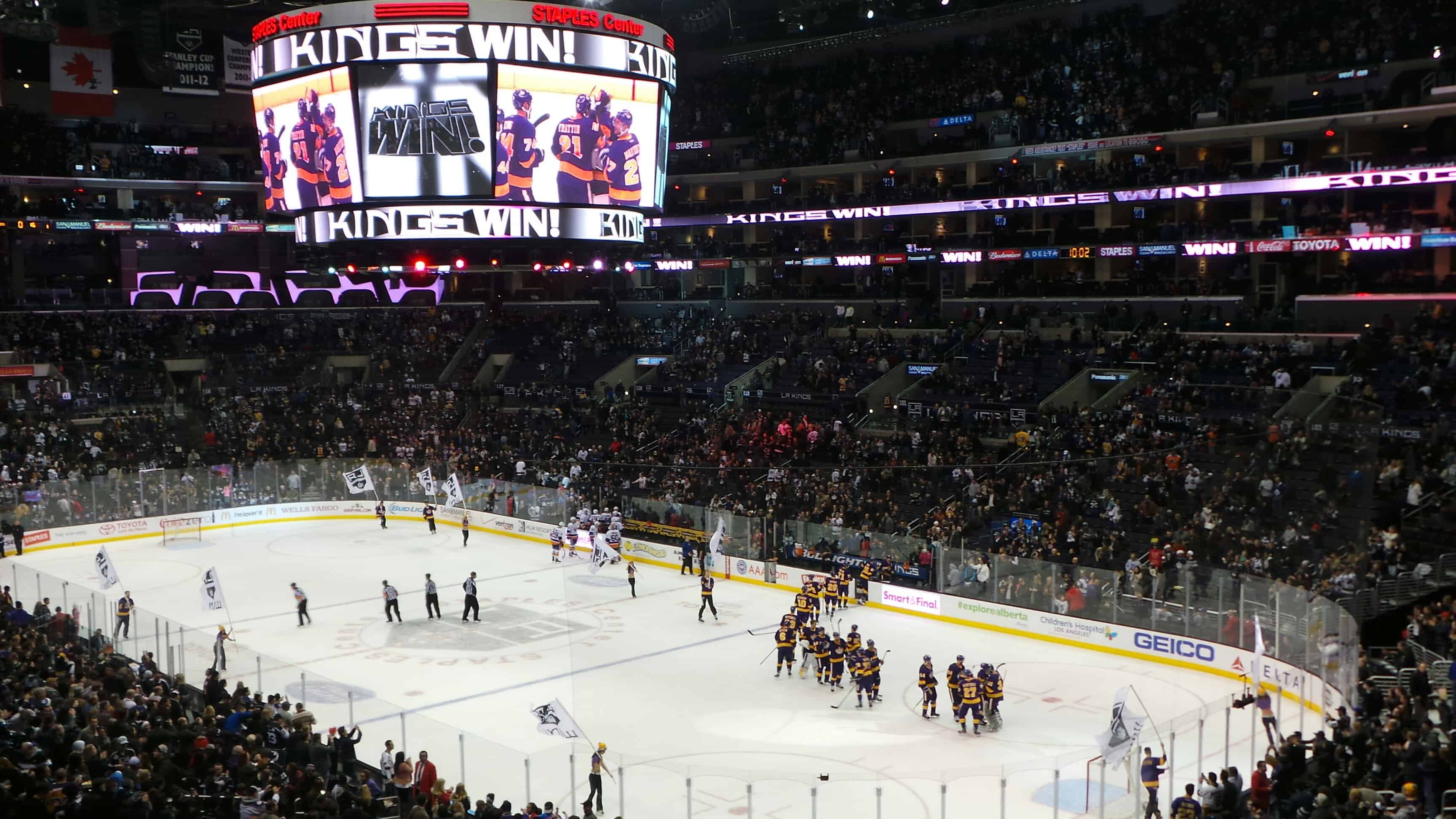 View from the Verizon Suite at the LA Kings vs. NY Islanders game