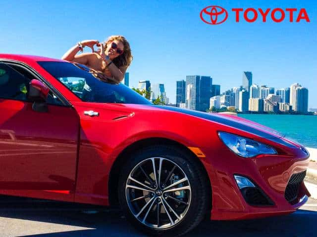 xoxolizza in Miami with Toyota