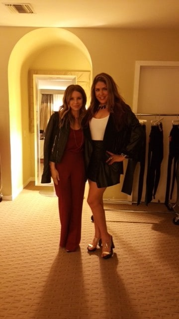 Lizza Monet Morales and Joey Tierney at JCPenny's VIP Holiday Party 2014