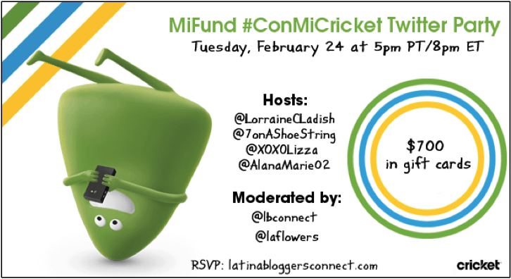 Join @xoxolizza for the MiFund #ConMiCricket Twitter Party