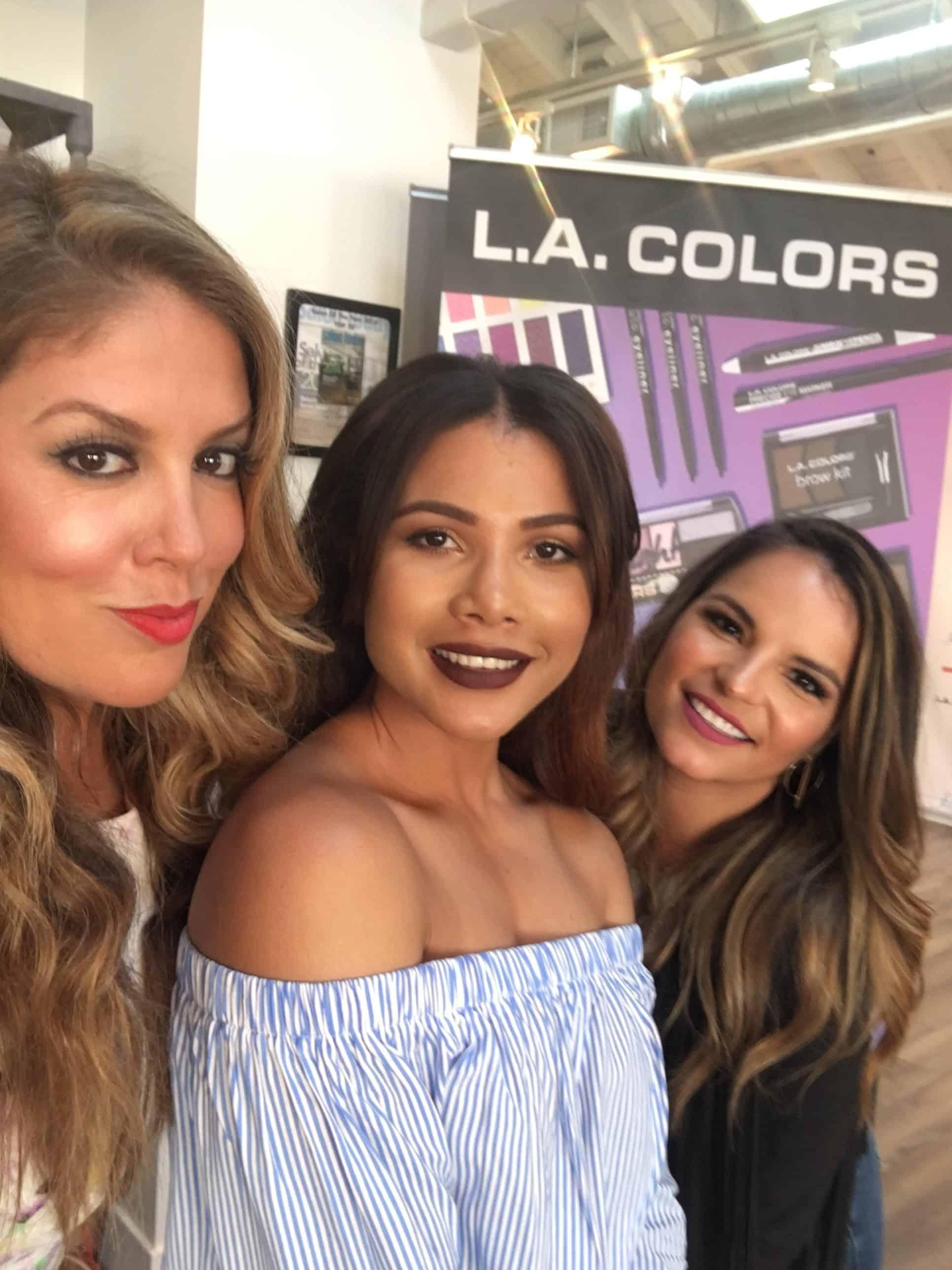 L.A.Colors-makeup-look-at-family-dollar-with-doralysbritto-claudia-felix-garay-lizza-monet-morales